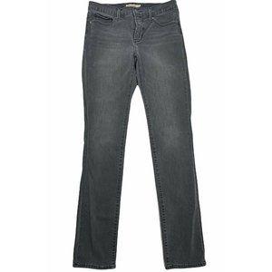 Levi's Women's  sz 29 X 34  Long Gray 312 Shaping Slim Jeans Stretch Mid Rise